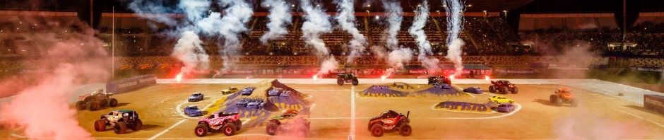 Pedestrian Barriers and VMS Sign hire at QSAC for Monster Jam 2015